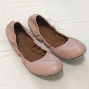 Lucky Brand Emmie flat ballet pink shoes size 9